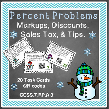 Percent Markups and Discounts Task Cards