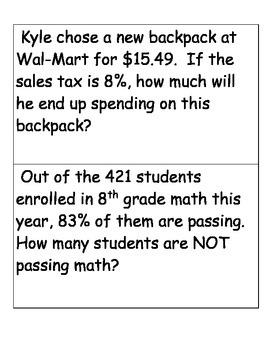 Percent Math Center