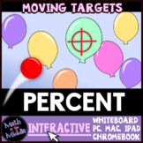 Percent Moving Targets Interactive Review Game