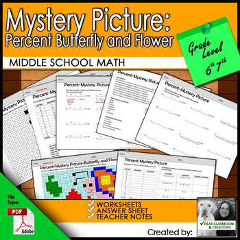 Percent Mystery Picture - Butterfly
