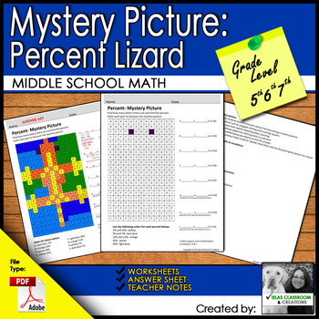 Percent-Mystery Picture Lizard