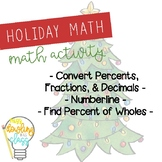 Percent Practice- Holiday Activity Booklet