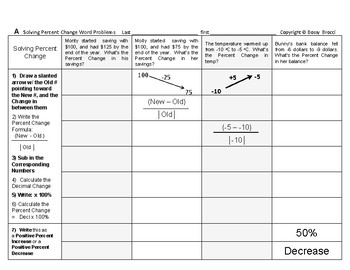 Percent & Price 01: Solving Percent Change Word Problems