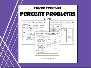 Percent Problem Types- Notes
