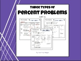 Percent Problem Types- Notes