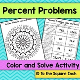 Percent Problems Color and Solve