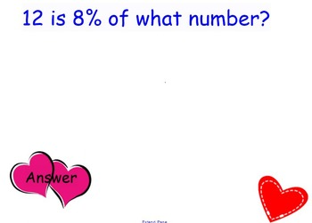 Percent Problems Heart Themed