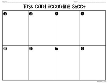 Percent Problems Task Cards and Recording Sheet *FREEBIE*
