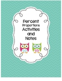 Percent Proportion Activities and Notes