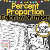 Percent Proportion Worksheet Color By Number