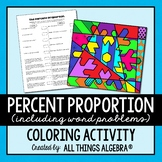 Percent Proportion Coloring Activity