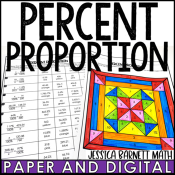 Percent Proportion Coloring Page Activity