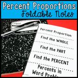 Percent Proportion Foldable