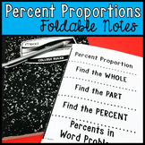 Percent Proportions Foldable