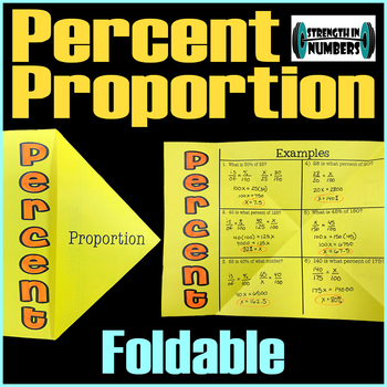 Percent Proportion Foldable Notes for Interactive Notebook