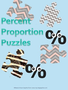 Percent Proportion Holiday Puzzles