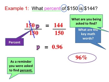 Percent Equation (Instructional PowerPoint and Assignment)