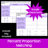 Percent Proportion Matching *Google Classroom Distance Learning*