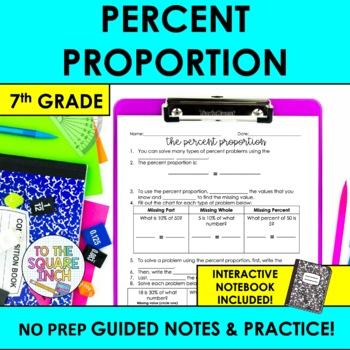 Percent Proportion Notes