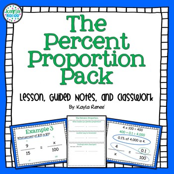 Percent Proportion Pack!