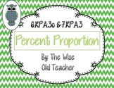 Percent Proportion Powerpoint with Guided Worksheet 6.RP.A