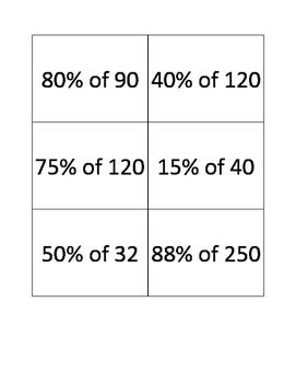 Percent Proportion QR Code Activity