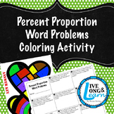 Percent Proportion Word Problems Coloring Activity