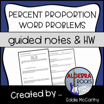 percent proportion word problems guided notes and assessment tpt. Black Bedroom Furniture Sets. Home Design Ideas