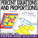 Percent Proportion and Equation Lesson Bundle - Distance Learning