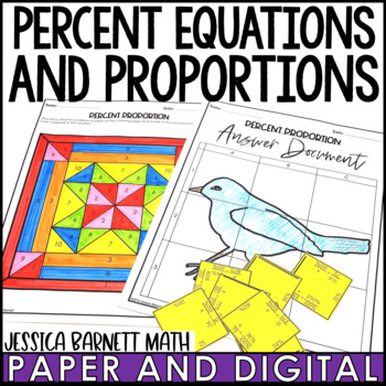 Percent Proportion and Equation Lesson Bundle