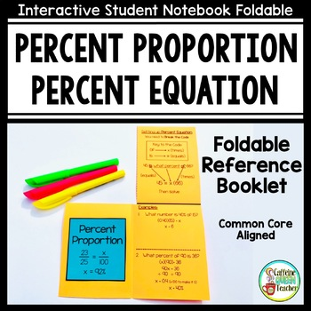 Percent Proportion and Percent Equation Foldable Booklet