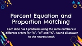 Percent Proportion vs Equation Matching