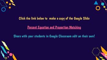Percent Proportion vs Equation Matching