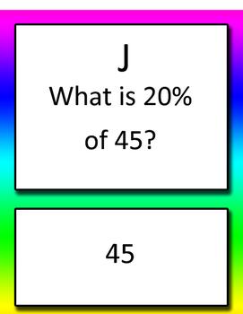 Percent Proportion / Equation Round Robin Common Core 6th grade