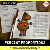 Percent Proportions Color By Number Activity
