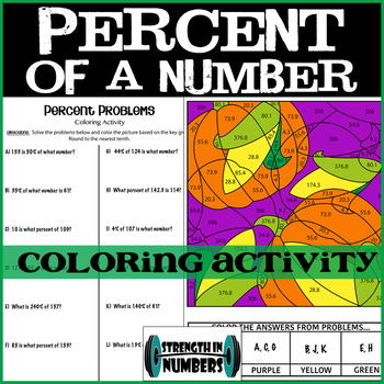 Percent Proportions/Equations Fall Pumpkin Coloring Interactive Notebook