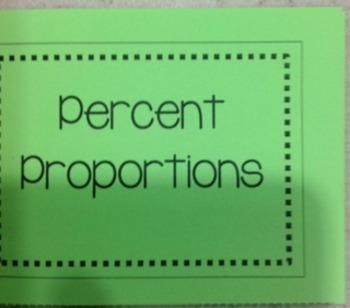 Percent Proportions Foldable