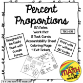 Percent Proportions ISN Notes and Task Cards TEKS 6.5B