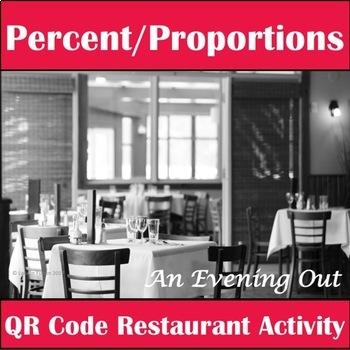 Percent Proportions QR Code Activity! Tips, Totals, and Percents