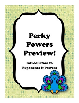 Exponents & Powers Preview Notes Package Pre-Algebra