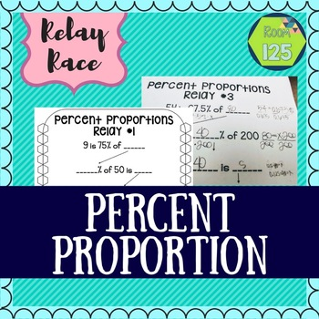 Percent Proportions Relay Rush