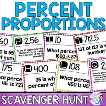 Percent Proportions - Scavenger Hunt
