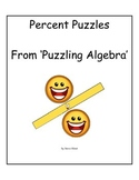 Percent Puzzles from Puzzling Algebra