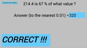 Solving Percent Questions (I)