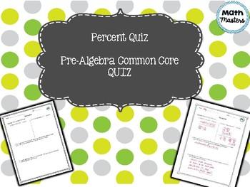 Percent Quiz