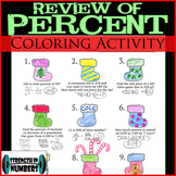 Percent Review Christmas Holiday Stocking Coloring Activity