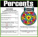 Percent Review Interactive Notebook Mandala Coloring Activity