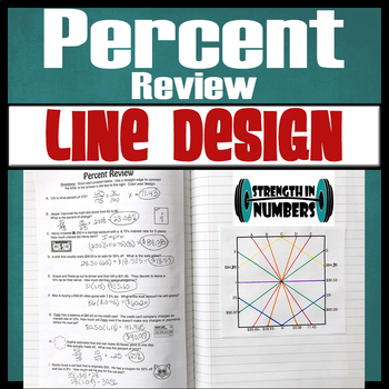 Percent Review Line Design Coloring Activity for Interactive Notebook