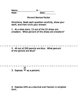 Percent Review Packet
