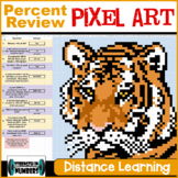 Percent Review Tiger PIXEL ART Distance Learning Google Sheets